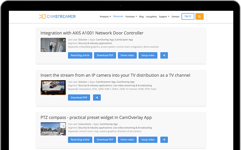 Solution Security Camstreamer